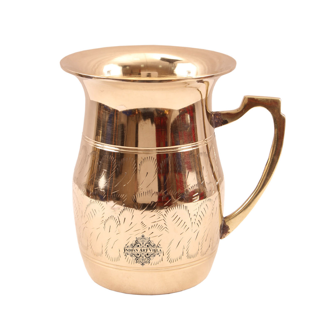 Brass Handmade Leaf Designer Jug Pitcher 1650 ML