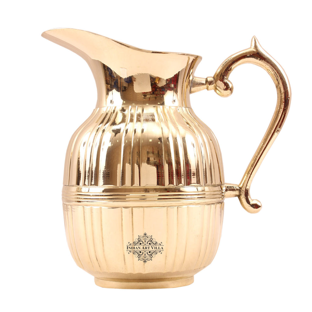 Brass Handmade Barrel Design Jug Pitcher 1240 ML