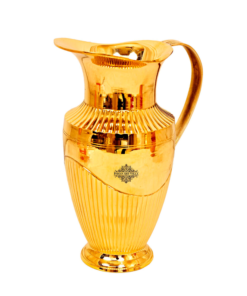 Brass Lining Design Jug Pitcher, 1200 ML