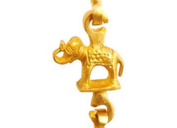 "Brass Jhula Chain Horse, Men Guard , Elephant, Rudraksh Design, 75.2"" Inch"
