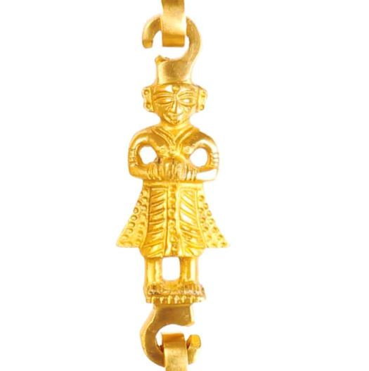 "Brass Jhula Chain Horse, Men Guard, Peacock, Elephant,  Rudraksh Design, 76.2"" Inch"