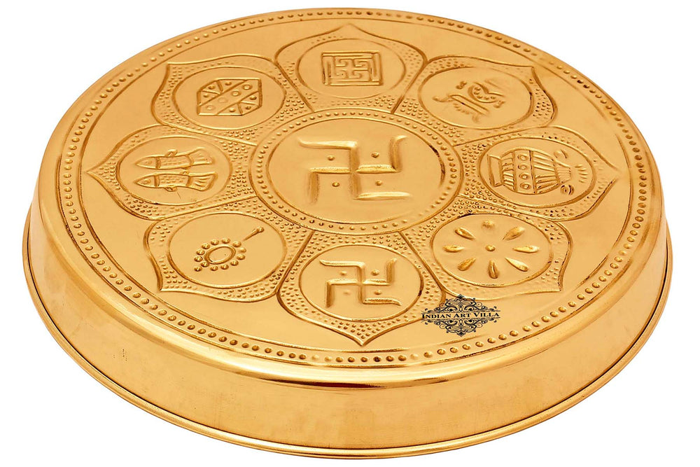 "Astmanghal Brass Puja Thali 8.1"" Inch"