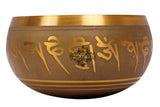 Brass Gold Designer Tibetan Singing Bowl