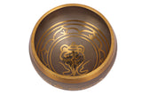 Brass Grey Designer Tibetan Singing Bowl