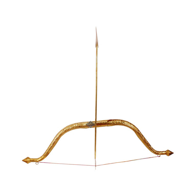 "Brass Designer Bow and Arrow Set - 4.4"" Height"