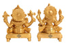Brass Ganesh Ji & Laxmi Ji on Chowki|fingurine