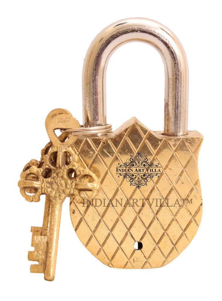 Brass Sparrow Bird Design Lock with 2 Key