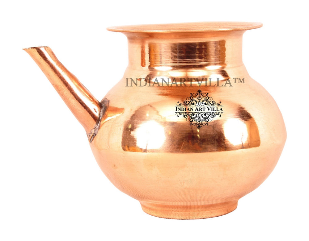 Copper Plain Design Ramjhara/Karva Pot