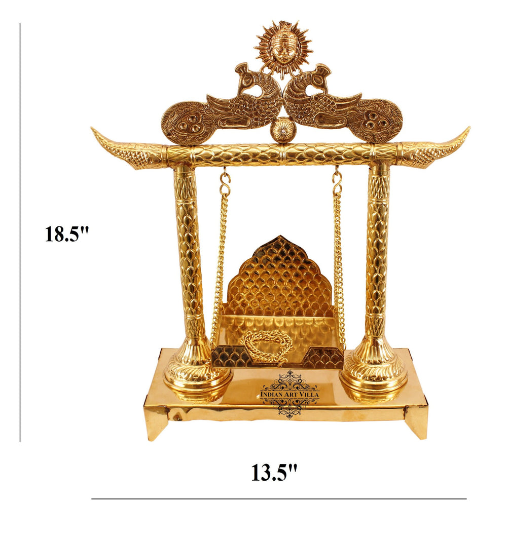 "Brass Designer Laddu Gopal Jhula - 18.5"" Height"