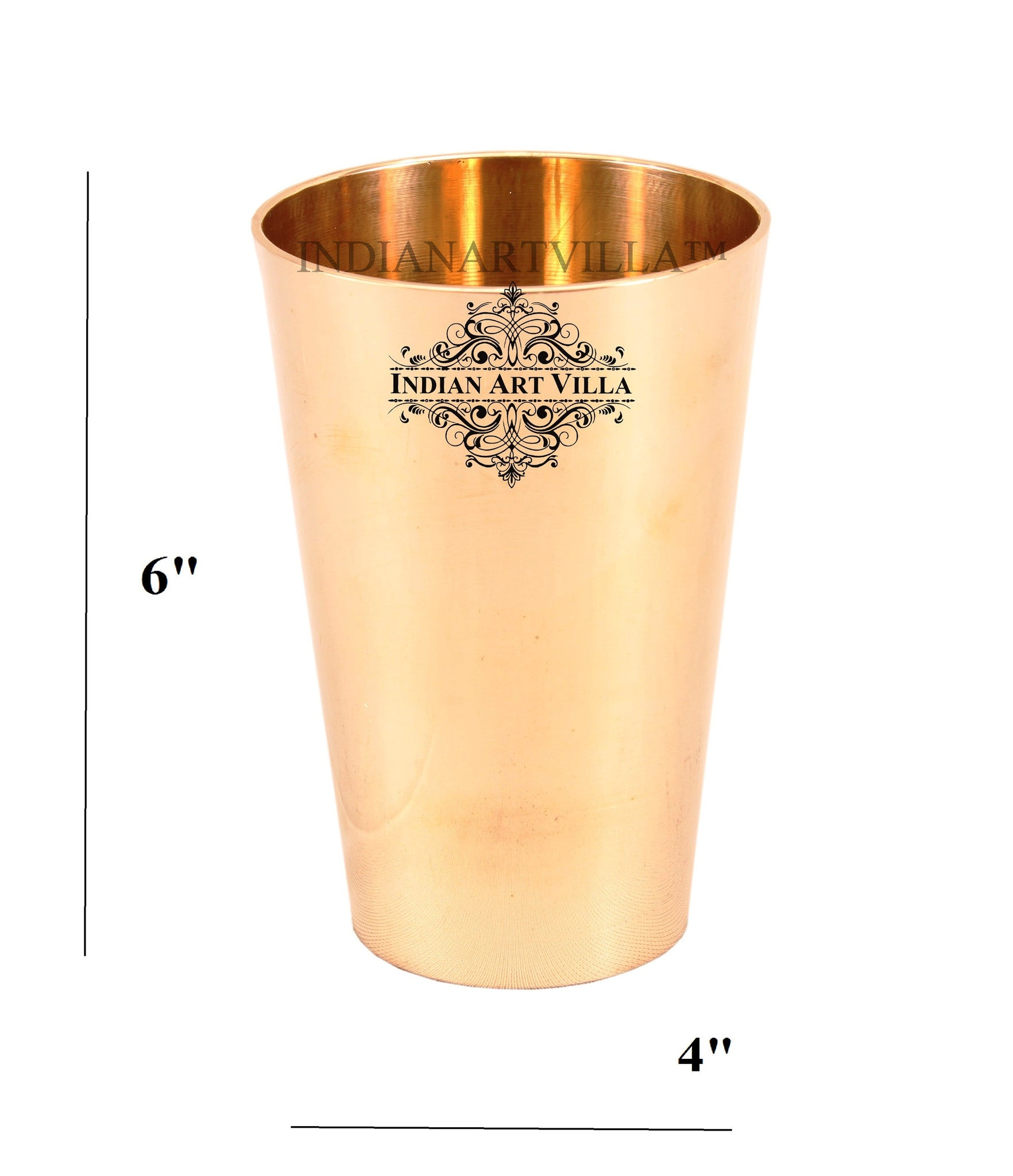 Bronze Plain Design Lassi Glass