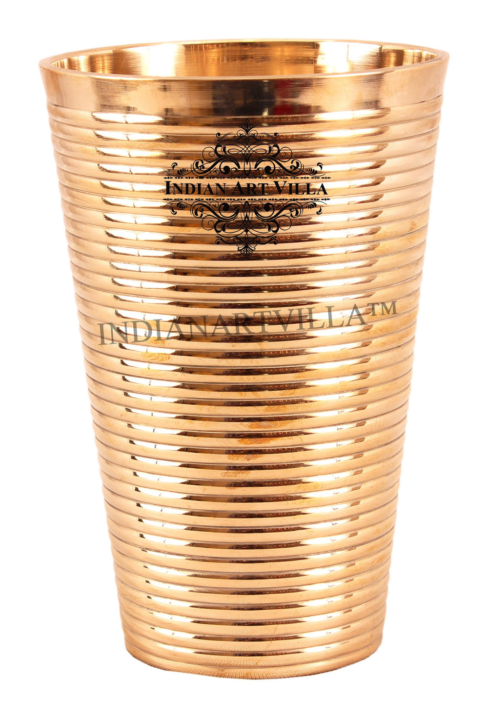 Bronze Lining Design Big Lassi Glass -770 ML