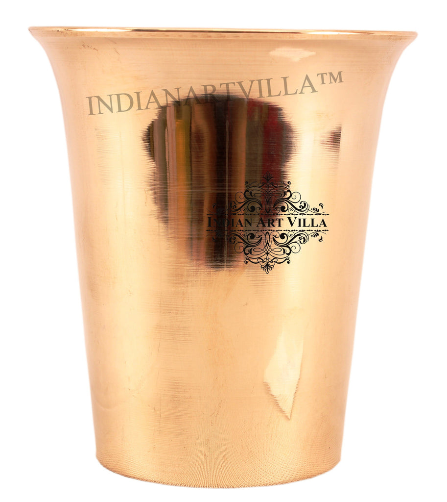 Bronze Curved Design Glass Tumbler 290 ML