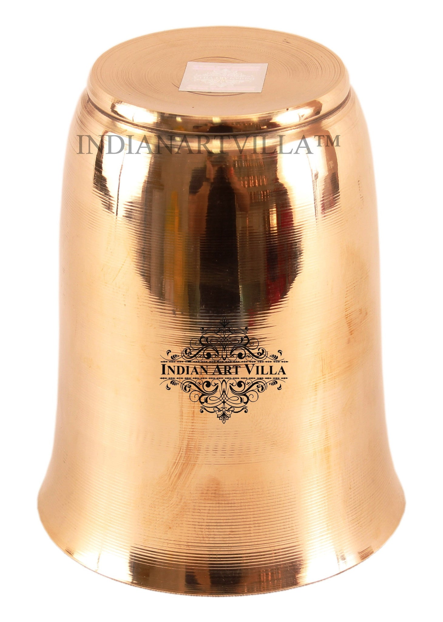 Bronze Mughlai Design Glass Tumbler-240 ML