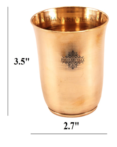 Ayurveda Beneficial Bronze Mughlai Design 240 ML Bronze Glass