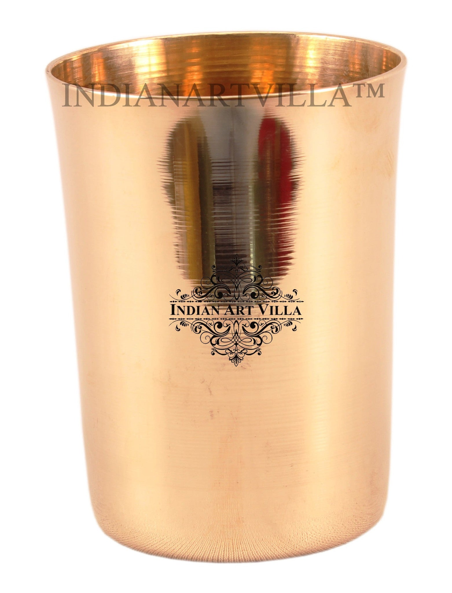 Bronze Plain Design Big Glass Tumbler 290 ML