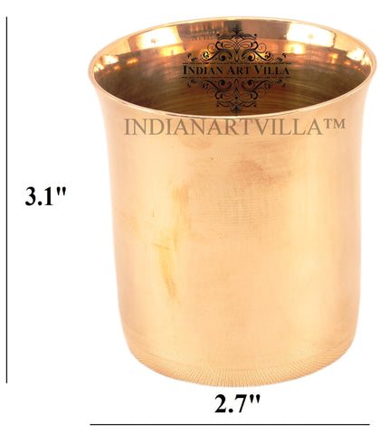 Bronze Handmade Plain Design Glass 250 ML