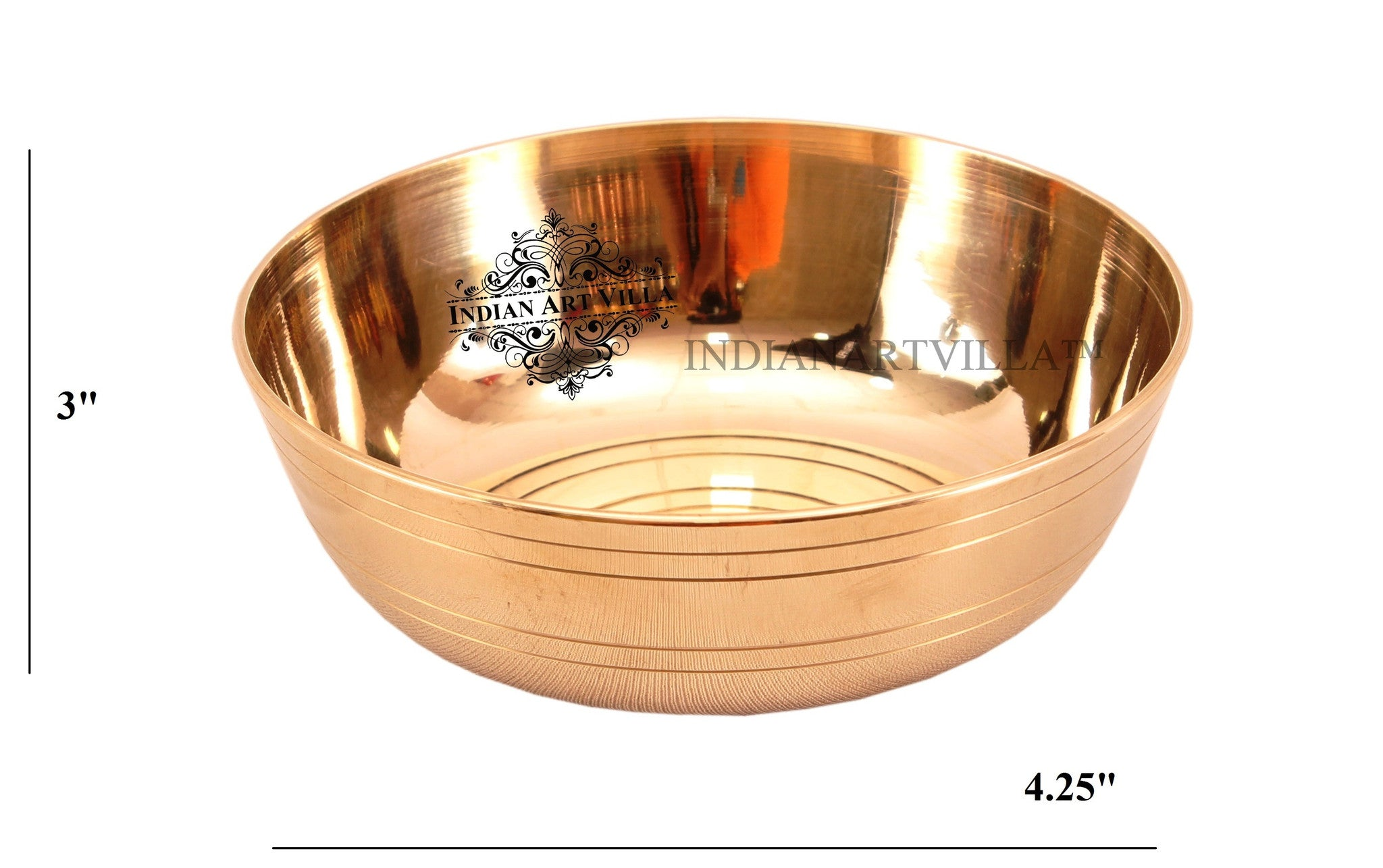 Bronze 4 Line Design Dinner Bowl