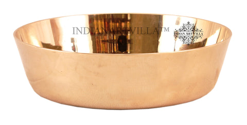 IndianArtVilla Dinnerware Bronze Plain Bowl