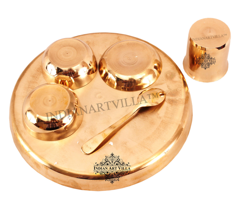 Bronze 6 Piece Thali Dinner Set