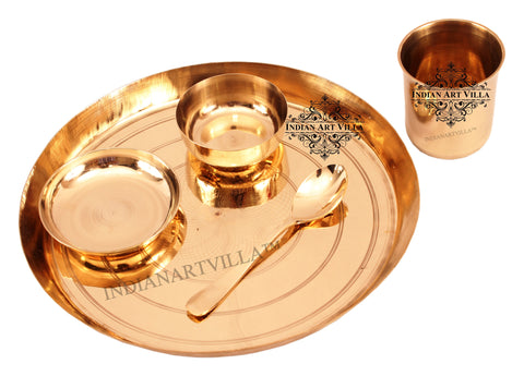 IndianArtVilla Best Quality 5 Piece Lining Design Dinner Set