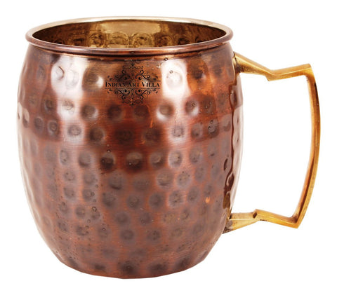 Copper Nickel Round Hammered Black Polished Beer Mug Moscow Mule Cup 550 ML
