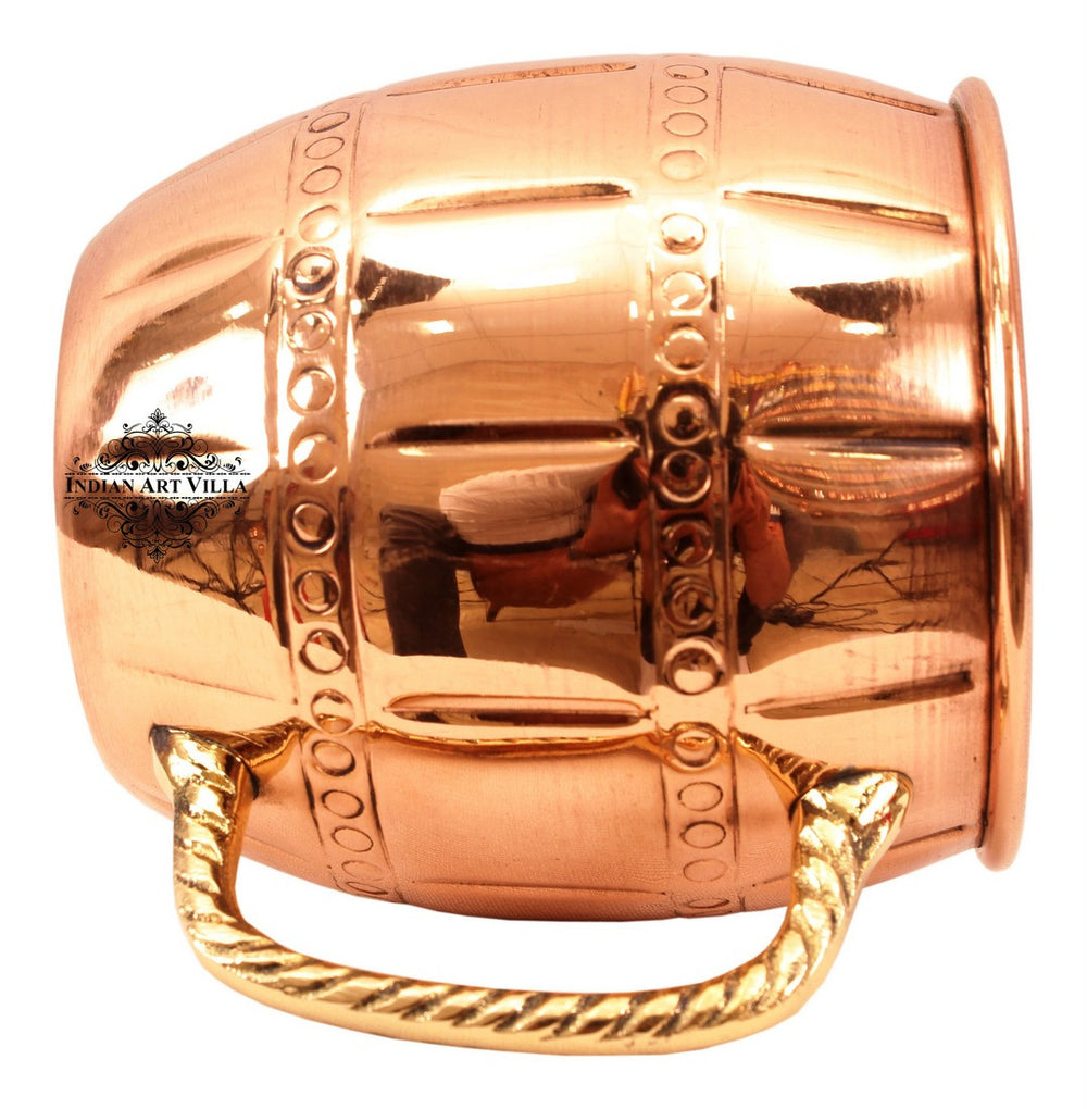 Copper Nickel Designer Mug with Brass Handle Ring
