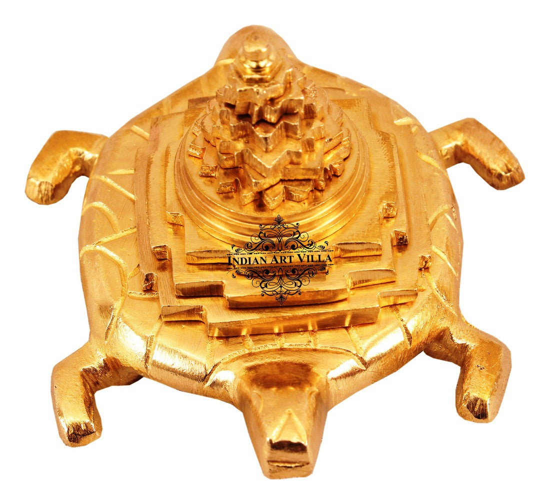 "Brass Three Stage Vastu Tortoise Pyramid - 2.5"" Height"
