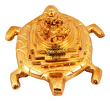 Brass Handmade Three Stage Vastu Feng Shui Pyramid on Tortoise