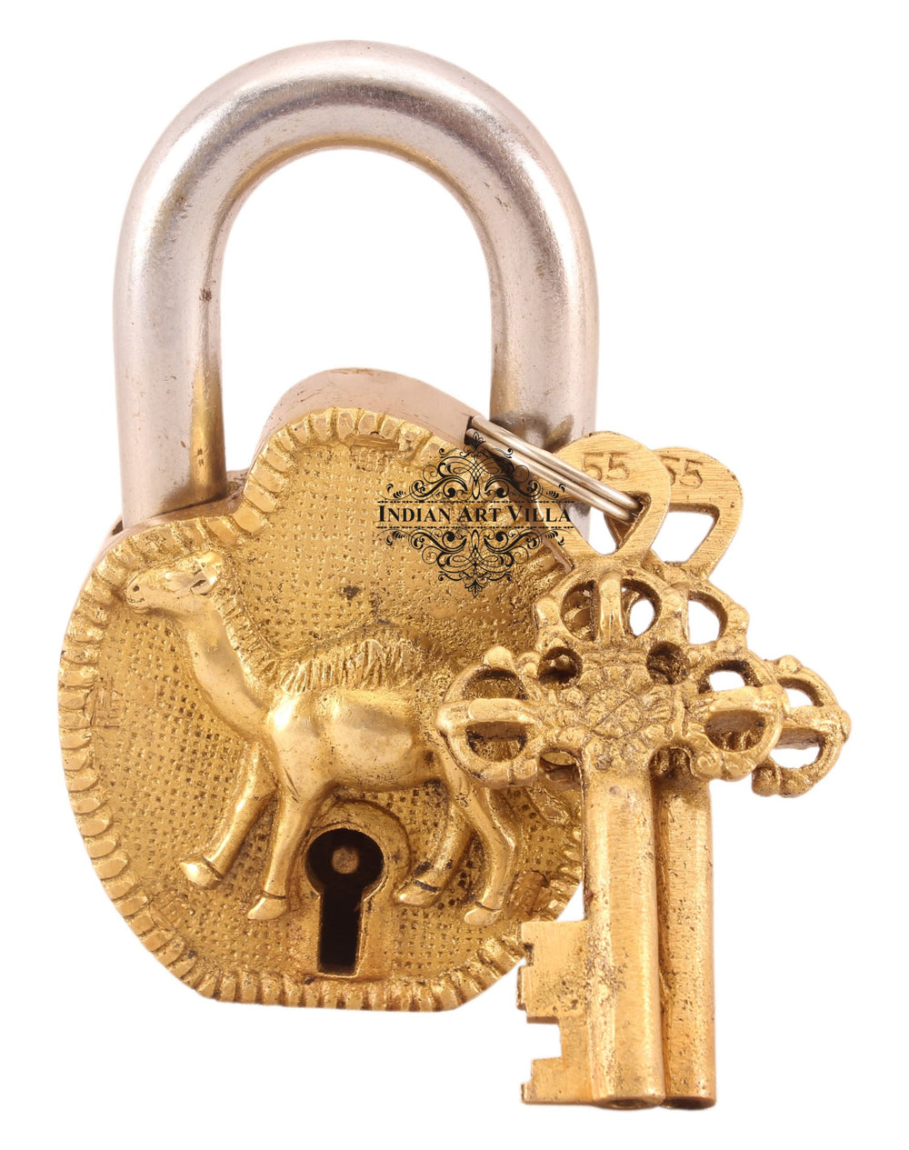 Brass Camel Design Lock with 2 Keys
