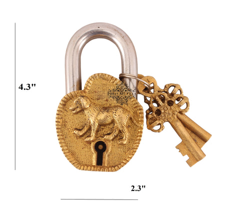Vintage Style Dog Brass Security Lock