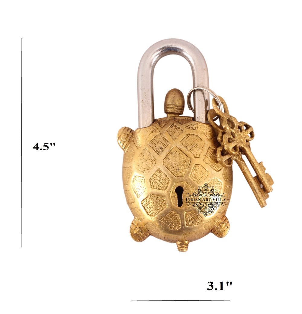 Brass Tortoise Design Lock with 2 keys