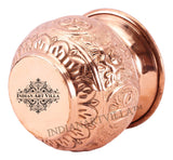 Copper Swastik Design Round Lota Kalash 350 ML