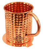 Copper Daimond Mug Cup with Coaster | 450 ML