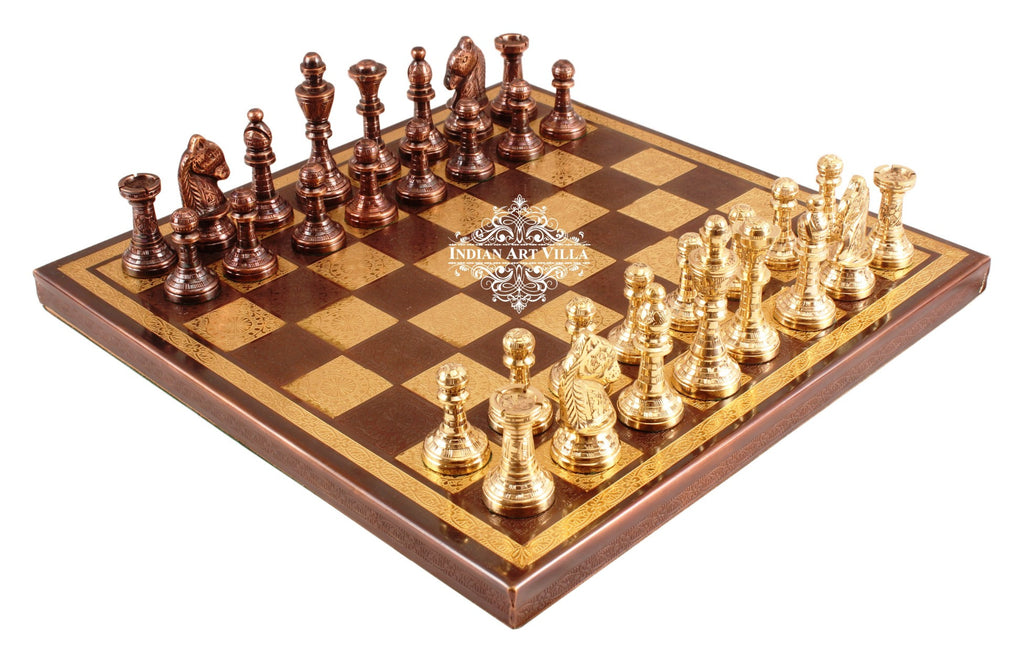 Brass Handcrafted Collectible Designer Chess with Pieces