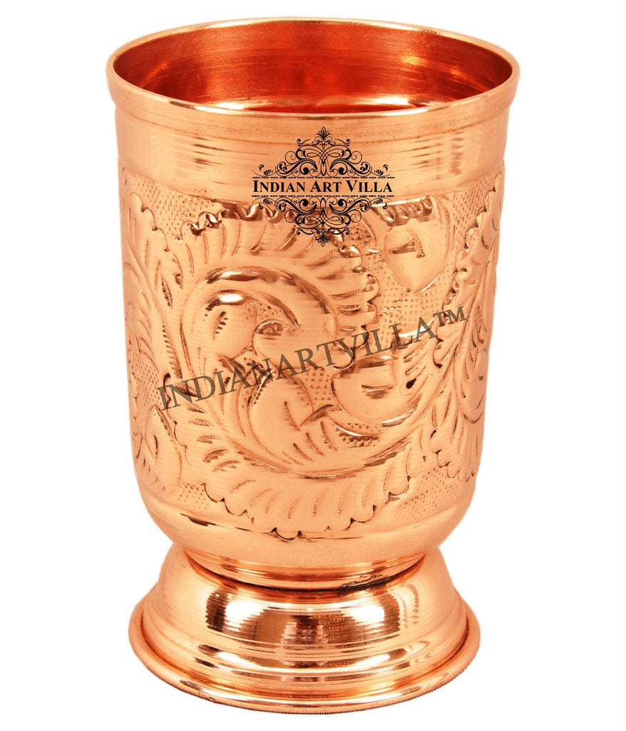 Pure Copper Handmade Designer Glass 350 ML