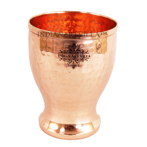 Handmade Hammered Pure Copper Glass Cup 350 ML