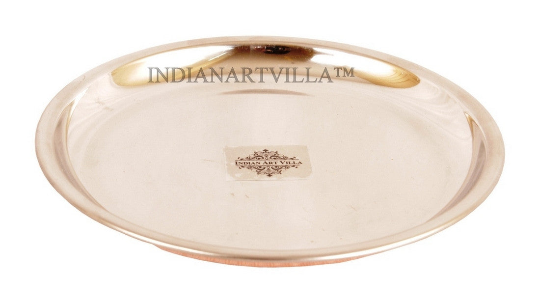 Steel Copper Hammered Design Full Serving Plate