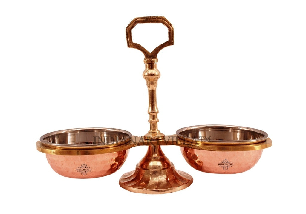 Steel Copper Pickel Set of 2 Bowl Compartment