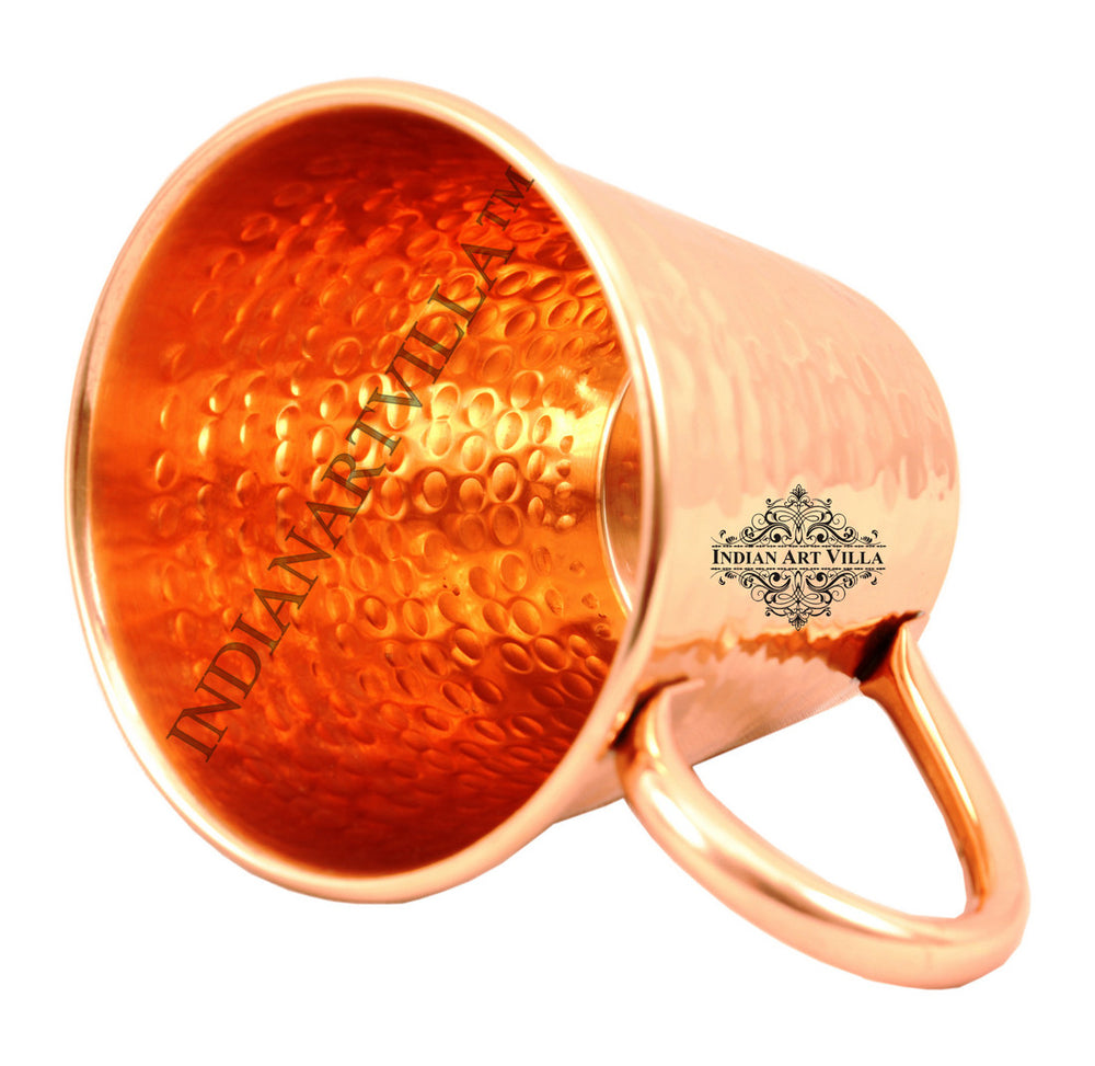 Copper Big Top Hammered Design Mug - 400 ML
