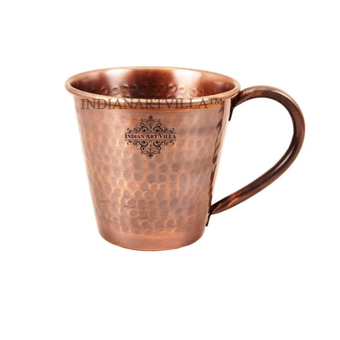 Heart Design Copper Hammered Moscow Mule Mug 400 ML