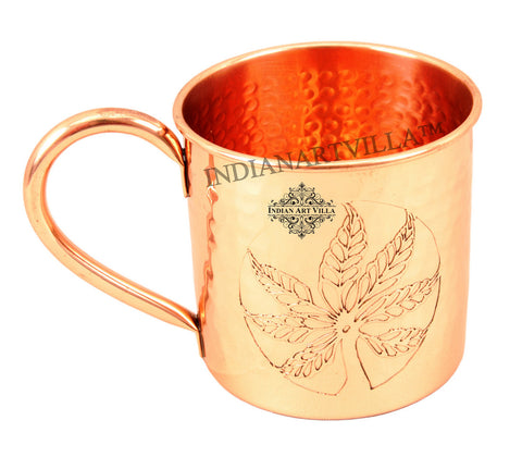 Pure Copper Designer Small Hammered Moscow Mule Mug 500 ML