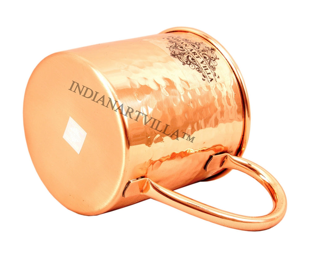 Copper Small Flower Design Mug - 500 ML