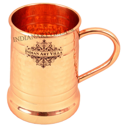 Hammered Pure Copper Big Moscow Mule Mug Cup 600 ML