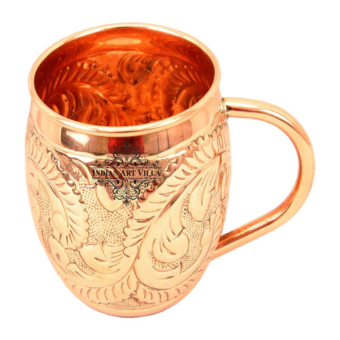 Copper Flower Design Moscow Mule Mug