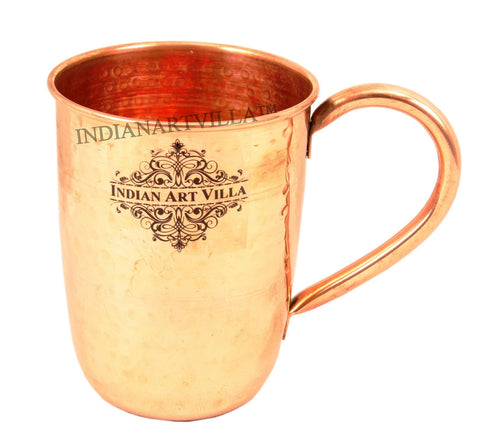 Pure Copper Flat Hammered 500 ML Mug Moscow Mule Cup