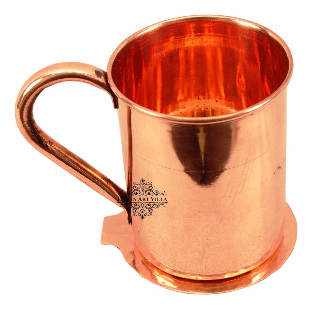 Copper Moscow Mule Beer Mug Cup 415 ML with Coaster