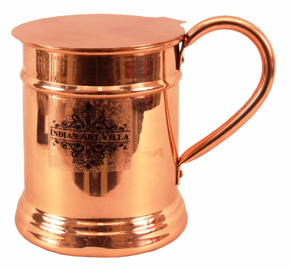 Copper Plain Design Big Mug Cup 600 ML with Coaster