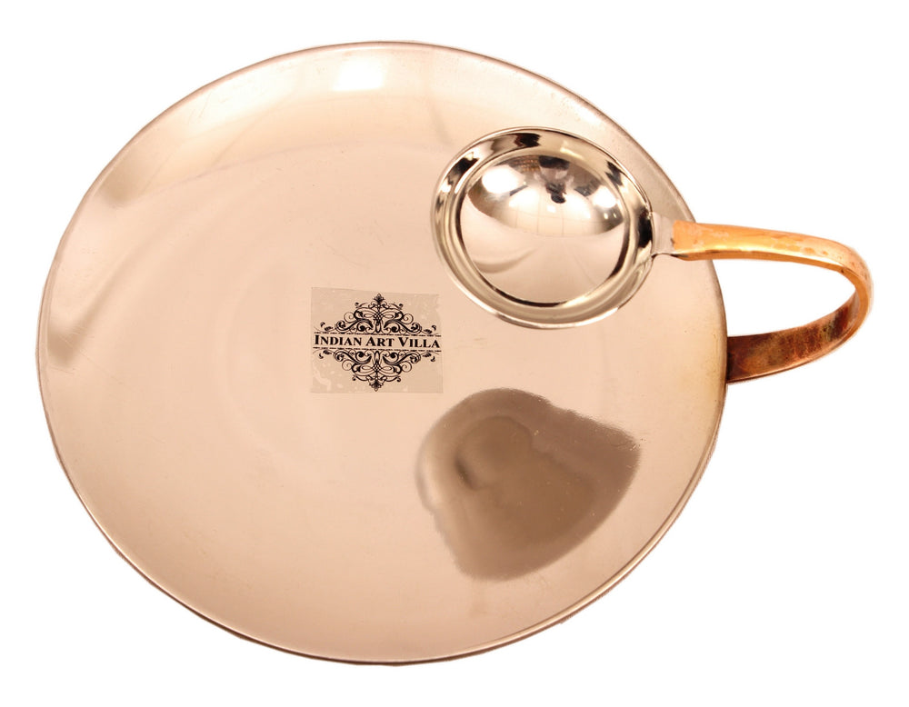 Steel Copper Tawa with Attach Bowl & Sigdi Angeethi