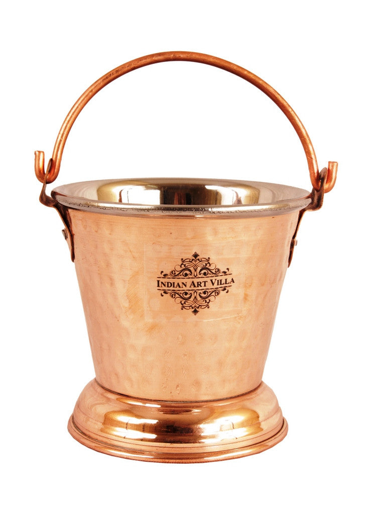 Steel Copper Handi|Kadhai|Bucket &Tawa Serving Set