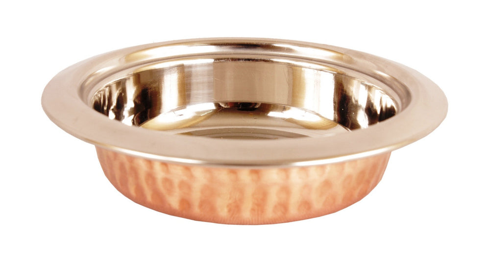 Steel Copper Entrée Bowl|Handi|Kadai & Platter Serving Set